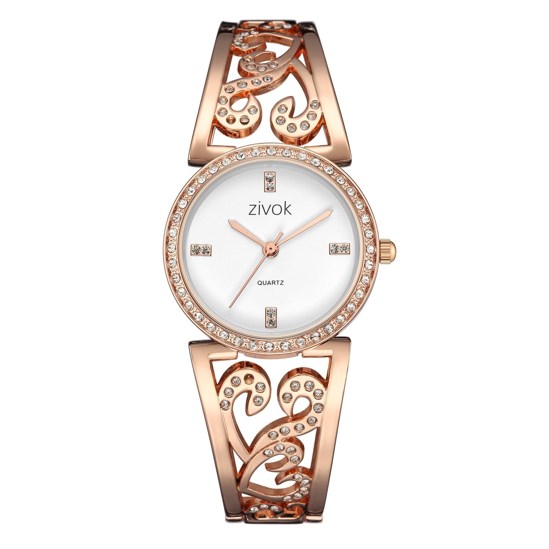 Fashion Women Bracelet Watch Creative zivok Brand Lovers Quartz Wrist Watches Women Clock Relogio Feminino xfcs Reloj Mujer цена и фото