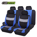 (Car-Pass ) Pu fabric material Gray/Blue/Red Universal Car Seat Covers Full Car-Covers Auto Interior Protector  Fit For Hyundai