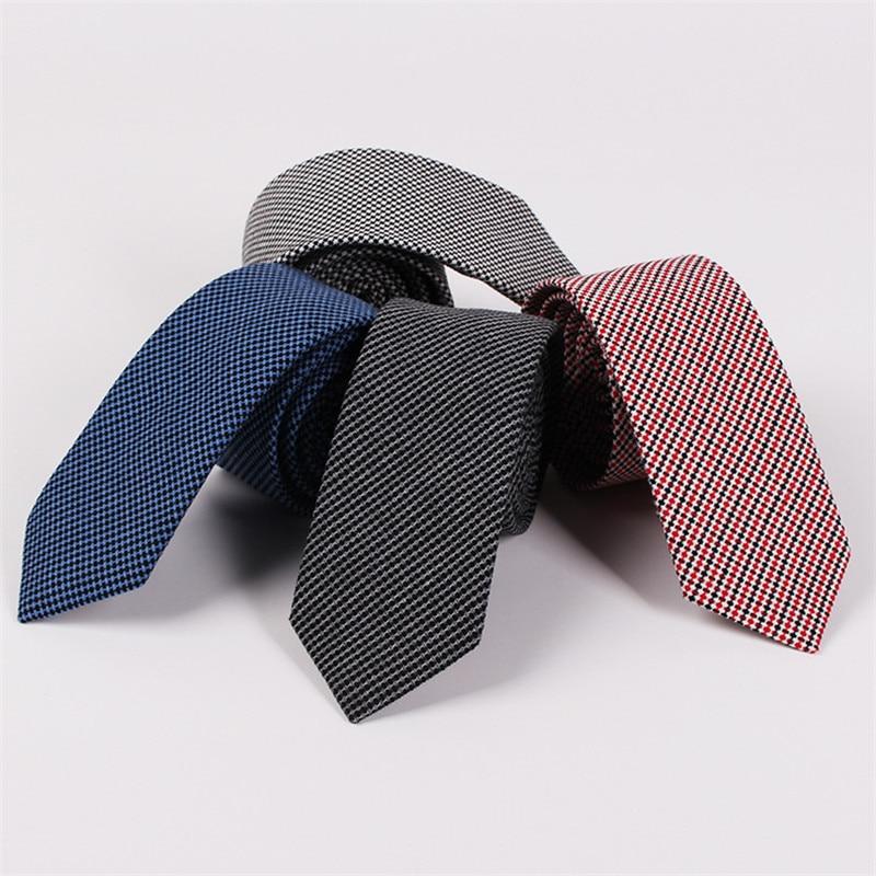 TagerWilen  Cotton Ties For Men 6.5cm Slim Skinny Narrow Plaid Dots Striped Necktie Gravata Wedding Party Business T-18