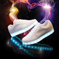 Ys 2016 Tenis Femenino Iluminan Zapatos Para Hombre Blanco Luminoso Led Que Brilla Intensamente Krasovki Masculinos Gumshoe Bambas Glitter H-005