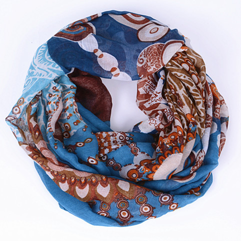 Guttavalli New Winter Female Dot Ring Shawl Fashion Women Flower Stripe Infinity Scarves Nice Chevron Plaid Chevron Loop Scarf