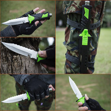 Deepsea Diving Knife Fixed Blade Knife cutting Leggings knifes & ABS Sheath Wilderness Camping knives Fishing Hunting Tool Saber(China)