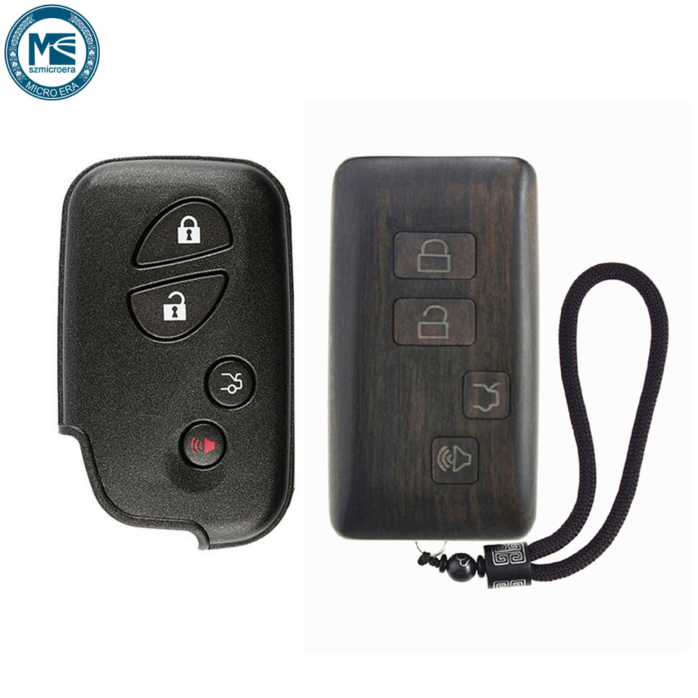Remote Control Refit Rosewood Car Key Fob Shell Replacement for Lexus ES GS IS LS Circuit