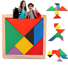 HOT Children Mental Intelligence Development Tangram Geometric Wooden Toy Classic Jigsaw Puzzle Kids Preschool Educational Toys