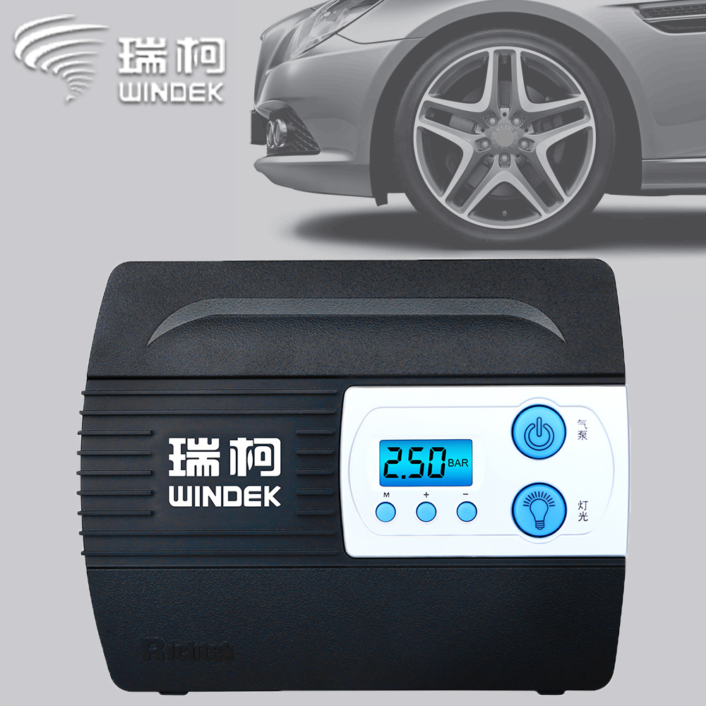 WINDEK Car Compressor Auto Tire Pump For Car Motorcycle Inflatable Tyre Inflator 12V Digital Portable Air Compressor title=