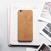 Luxury Back Skin Sticker For Apple IPhone 6 Case High Quality Genuine Leather Back Cover For