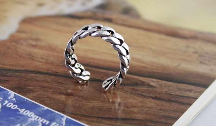 Mode retro stil Thai silber 925 sterling silber männer einstellbare größe ringe schmuck geschenk tropfen verschiffen mann offenen ring kein verblassen