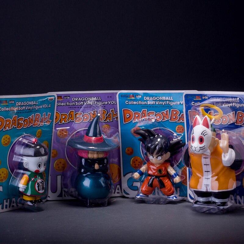 4pcs/set Anime Cartoon <font><b>Dragon</b></font> <font><b>Ball</b></font> <font><b>Z</b></font> <font><b>Sun</b></font> <font><b>Goku</b></font> <font><b>Master</b></font> <font><b>Roshi</b></font> Gohan <font><b>PVC</b></font> Action Figure Collectible Model Toy 10-15cm KT264