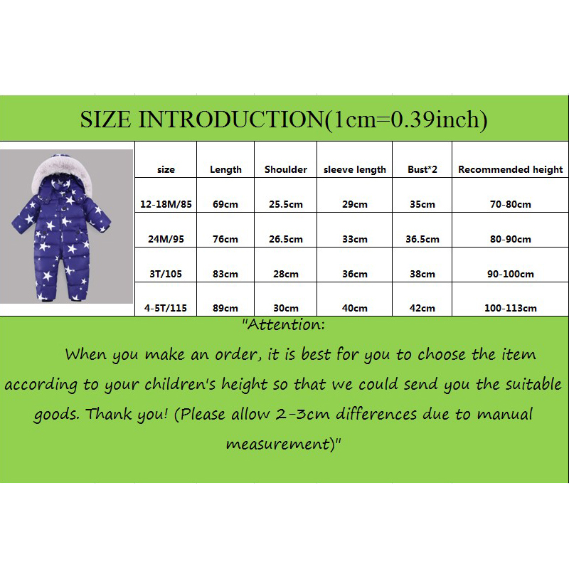 Baby Romper Winter Girl Boy Snowsuit Thermal Duck Down Fur Hooded Jumpsuit Newborn Kids Winter Climb Clothes Ski Suit Overalls in Down Parkas from Mother Kids