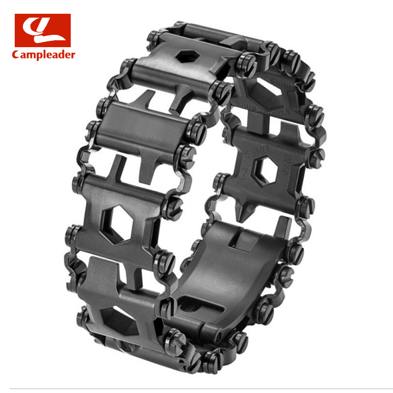 29 In 1 Multi-function wristband Bracelet Strap Outdoor tools Screwdriver Outdoor Pocket Multi Tool Keychain Bottle Opener CL019