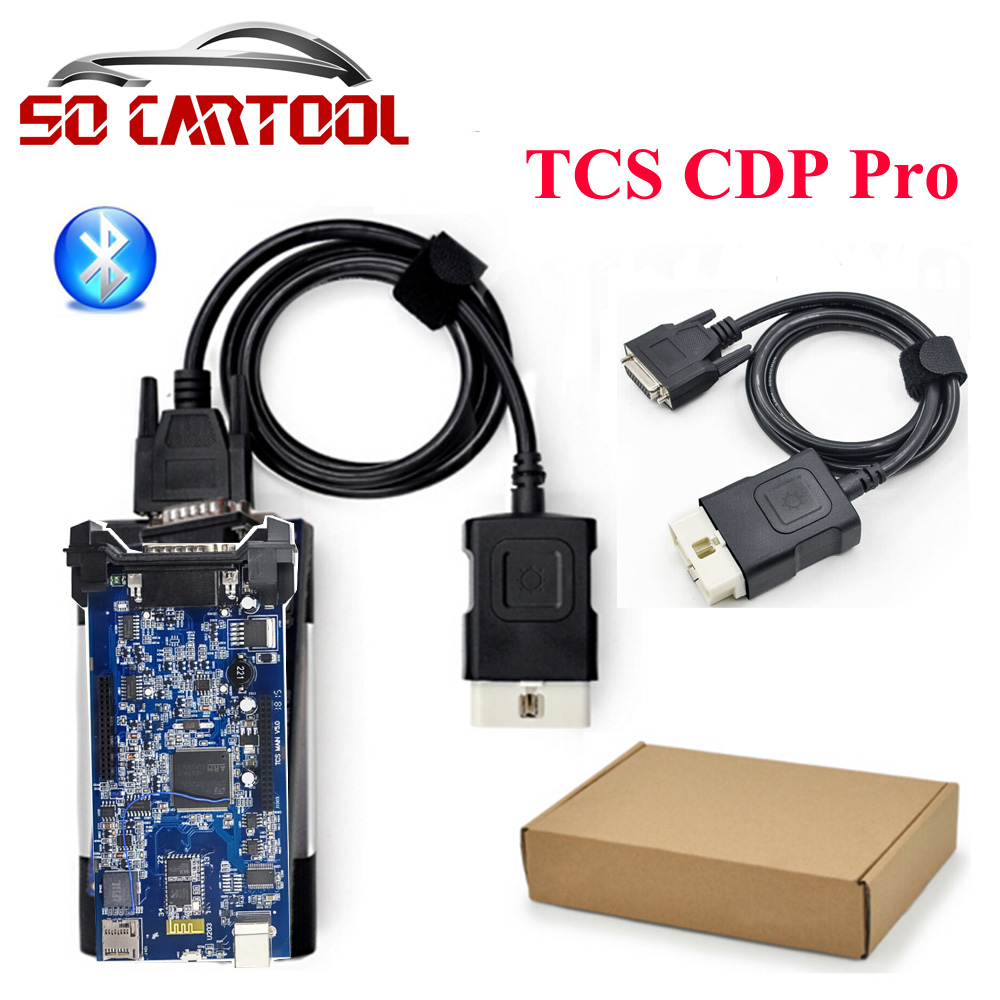 (5PCS/lot) 2014.R3 2015.R3 Free Keygen New TCS CDP Pro Plus With Bluetooth Scanner For Cars & Trucks + Carton box by DHL Free new arrival new vci cdp with best chip pcb board 3 0 version vd tcs cdp pro plus bluetooth for obd2 obdii cars and trucks