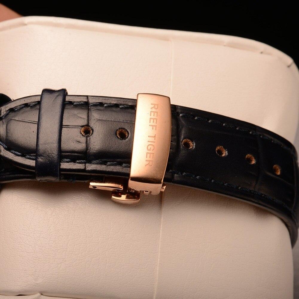 Риф Тигр/RT мужские классические часы для мужчин розовое золото многофункциональные часы сапфировое стекло автоматические часы RGA9122 - 4