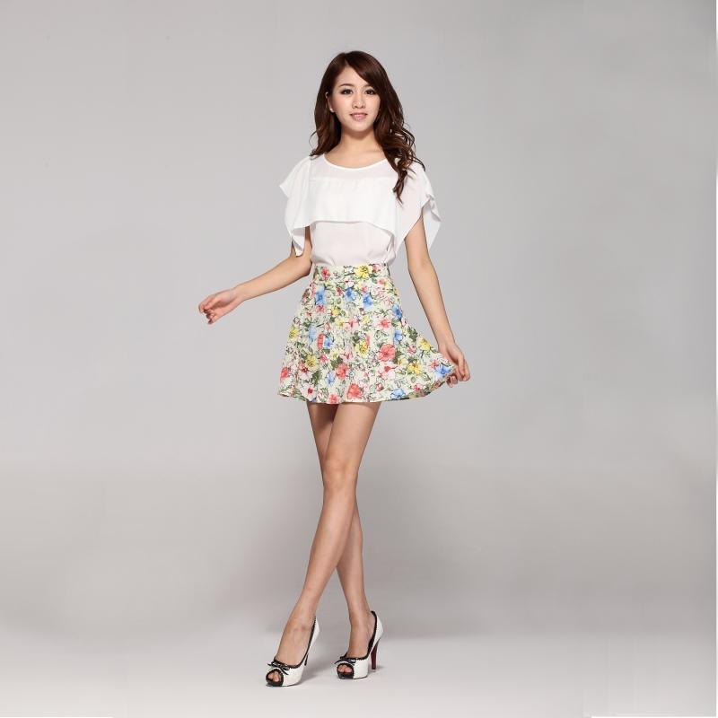 Aliexpress.com : Buy Woman's short Skirt Flowers Spring Summer ...