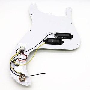 Image 2 - Schwarz Perle P Bass Prewired Geladen Schlagbrett für Precision Bass Gitarre 3 Ply PB Bass Zubehör