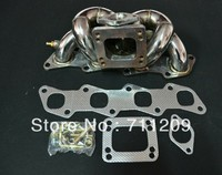 STAINLESS TURBO MANIFOLD FOR NISSAN 240SX S13 S14 KA24DET 2.4L T3 T4 T3/T4 TOP MOUNT STAINLESS STEEL TURBO MANIFOLD