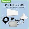 75dB ganancia AGC/MGC 4G LTE de 2600 mhz amplificador de señal 4G LTE 2600 Mhz (FDD Band 7) teléfono celular repetidor conjunto completo con Antena y Cable