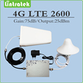 Gain 75dB AGC/ MGC 4G LTE 2600mhz signal booster 4G LTE 2600Mhz (FDD Band 7) cell phone repeater full set with Antenna and Cable