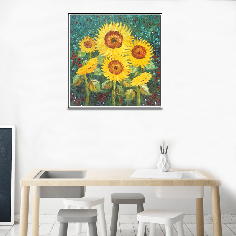 5D DIY Sunflower Diamond Painting Round Diamond Embroidery Full Drill Mosaic Stickers Rhinestone Cross Stitch Hobbies in Diamond Painting Cross Stitch from Home Garden