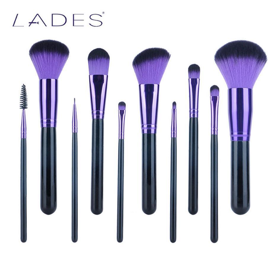 LADES 11pcs volledige set Mysterious make-up kwasten voor vrouwen - Make-up