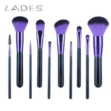 LADES 11pcs Full Set Mysterious Women Makeup Brush Kit Superior Professional Soft Cosmetic Brushes for Makeup-MB023