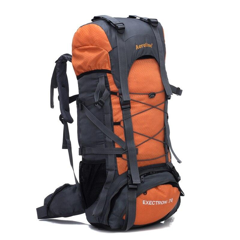 70L En Plein Air sacs d'escalade sac de randonnée imperméable sac à dos de sport Camping bagage de voyage Mountaineer Escalade Tourisme Sac À Dos