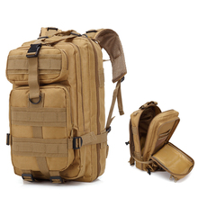 Military Tactical Molle 3P Shoulder Backpack About 30L Hiking Camping Outdoor Bag Climbing Traveling Rucksack