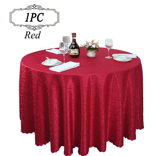 2017 Promotion 100% Polyester Modern Jacquard Tablecloth Machine Washable  Wedding Table Linen For Banquet Party