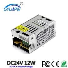 Одиночный выход DC 24 В 0.5A 12 Вт источник питания импульсный драйвер трансформатор 100-240 В переменного тока в DC24V SMPS для светодиодных лент модуль освещения