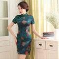 Шанхай История китайское традиционное платье короткое китайский платье восточного стиля платья estido tradicional cheongsam qipao 2 Стиль