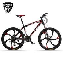 LAUXJACK горный велосипед сталь сам 24 скорость Shimano механические дисковые тормоза 26 «литые диски