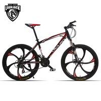 LAUXJACK Mountain bike steel itself 24 speed Shimano mechanical disc brakes 26 alloy wheels