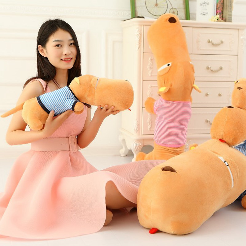 Creative Grievance Big head dog pillow Simulated dog Plush toys Imitation dog <font><b>doll</b></font> Cartoon birthday gift <font><b>85cm</b></font> image