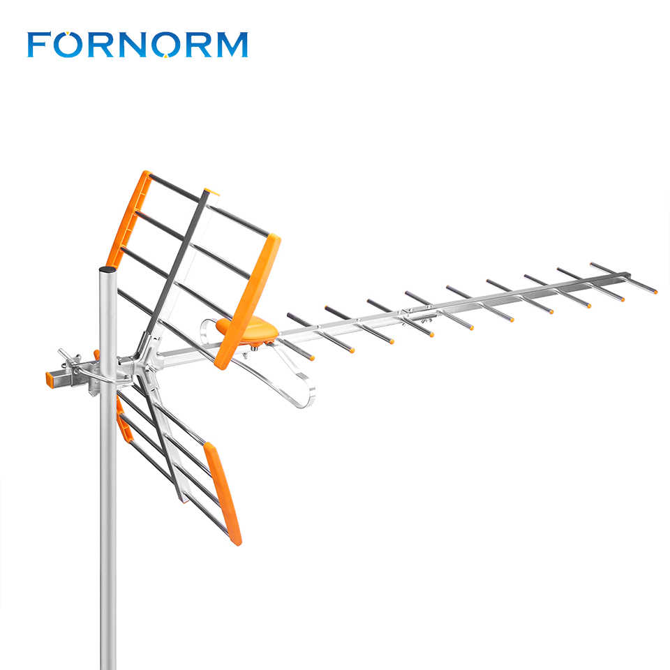 fornorm 80mile reception range outdoor tv antenna high gain hdtv antenna digital amplified outdoor attic [ 960 x 960 Pixel ]