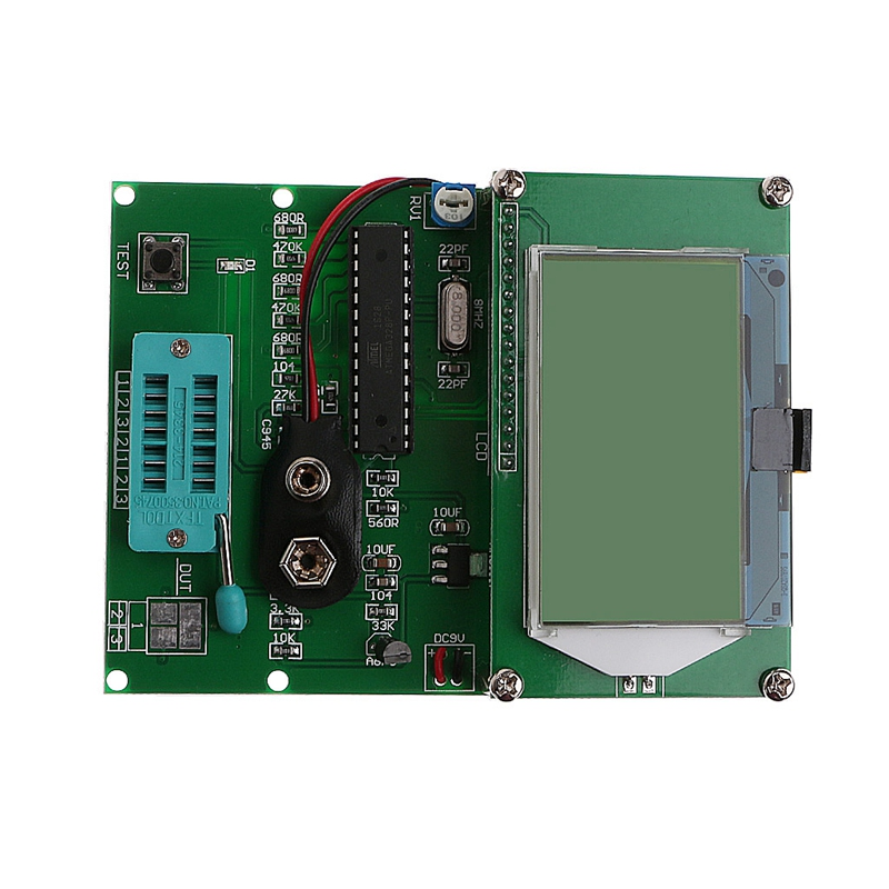 New 2017 For GM328 Transistor Tester ESR Table LCR Frequency Meter PWM Square Wave Generator  Hot Sale diy m12864 graphics version transistor tester kit lcr esr pwm with case