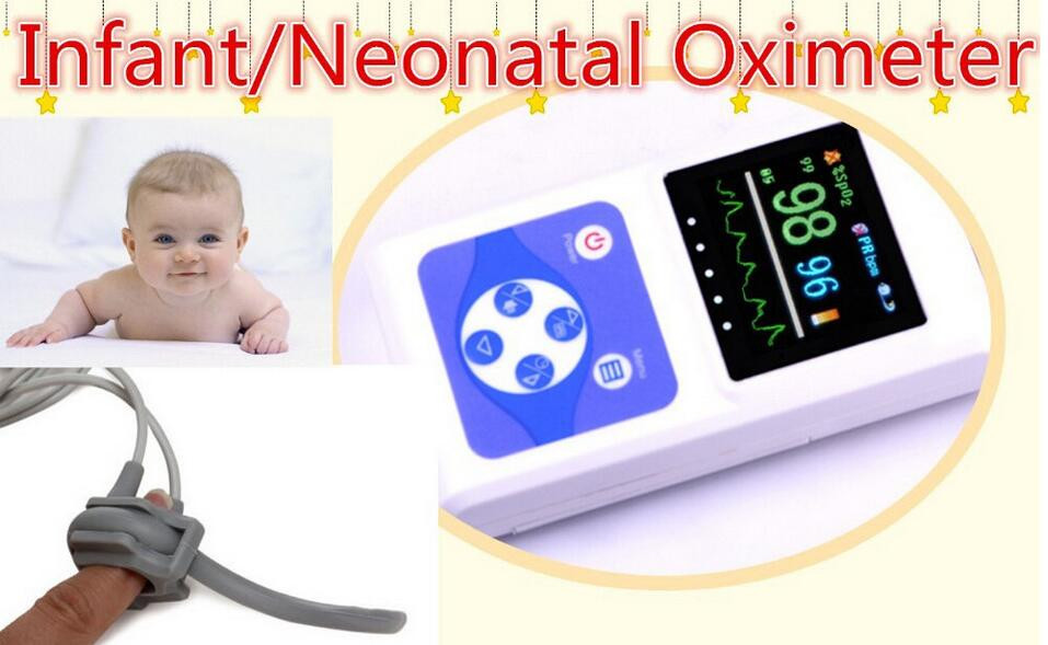 Neonatal Newborn pediatric Infant Pulse Oximeter with baby Spo2/ Monitor/ pulse oximeter alarm saturometro Oximetro de Pulso цена 2017