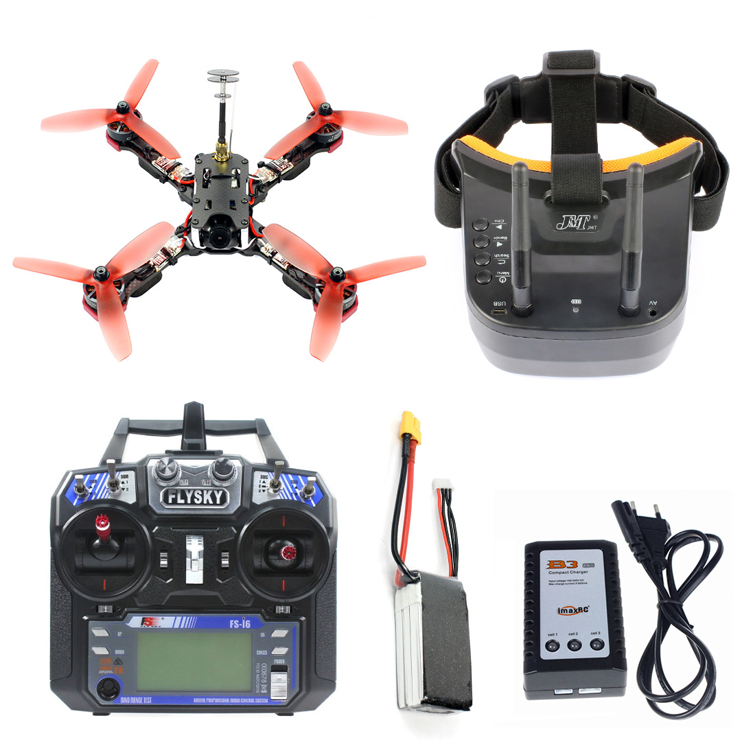 218mm 2.4G 6CH RC Racing Quadcopter RTF Betaflight F4 Pro V2 BLHeli-s 30A 5.8G 25/200/400mW VTX Mini 700TVL Camera FPV Drone image