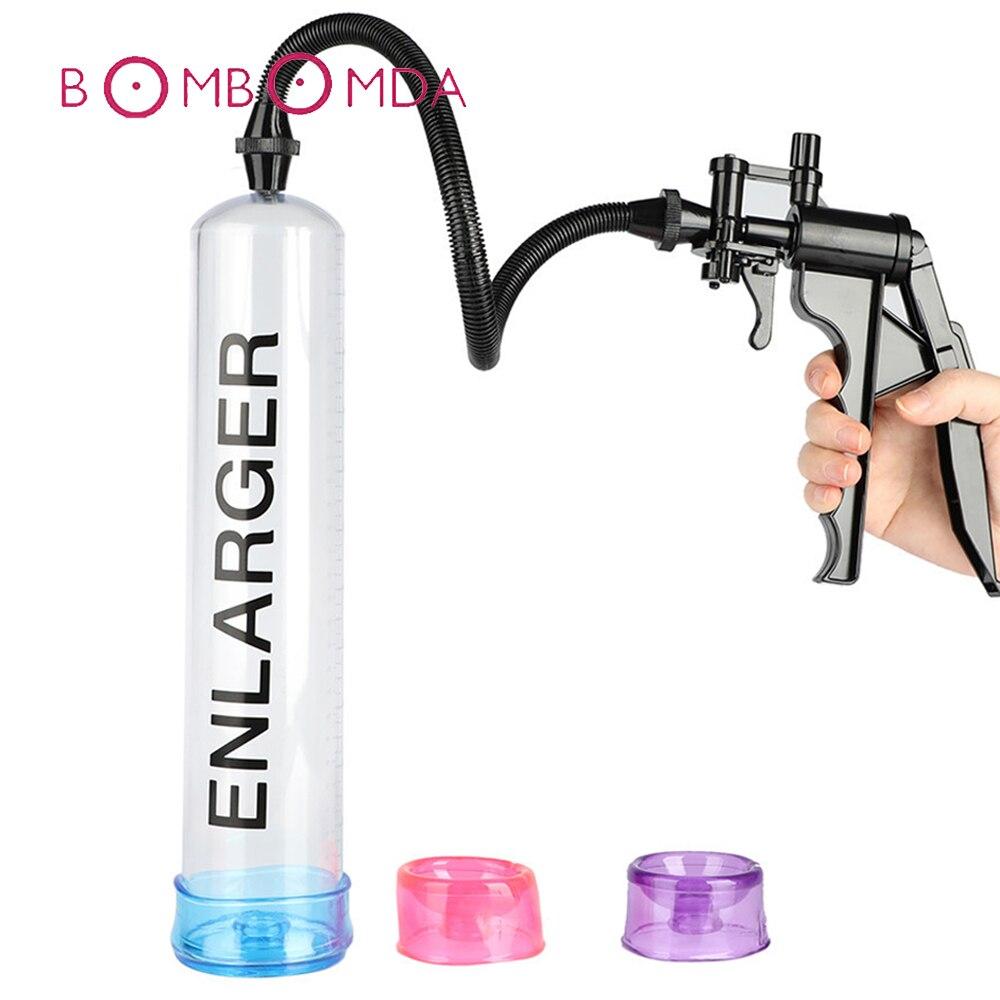 Sex Shop Penis Pump Sex Toys For Men Vacuum Handle Vibrator Pacemaker Penis Train Enlargers Sleeve Adult Product Sex Toy For Men