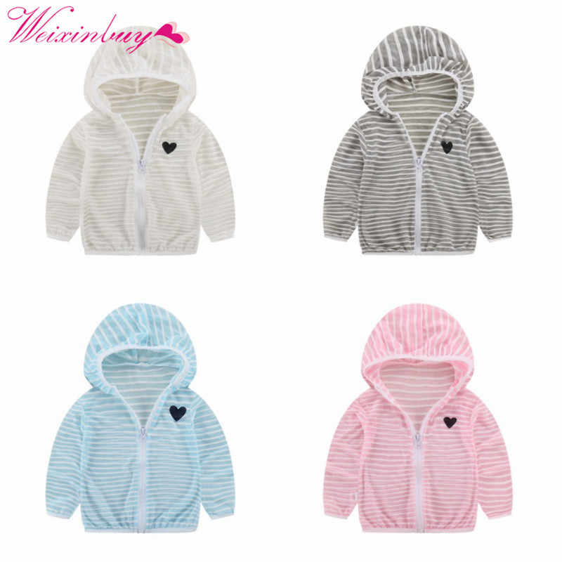 0deadb5eb32 Detail Feedback Questions about Summer Autumn Hooded Baby Jacket Striped  Beach Breathable Sunscreen Jacket for Boys Girl Clothes Girl Coat on  Aliexpress.com ...