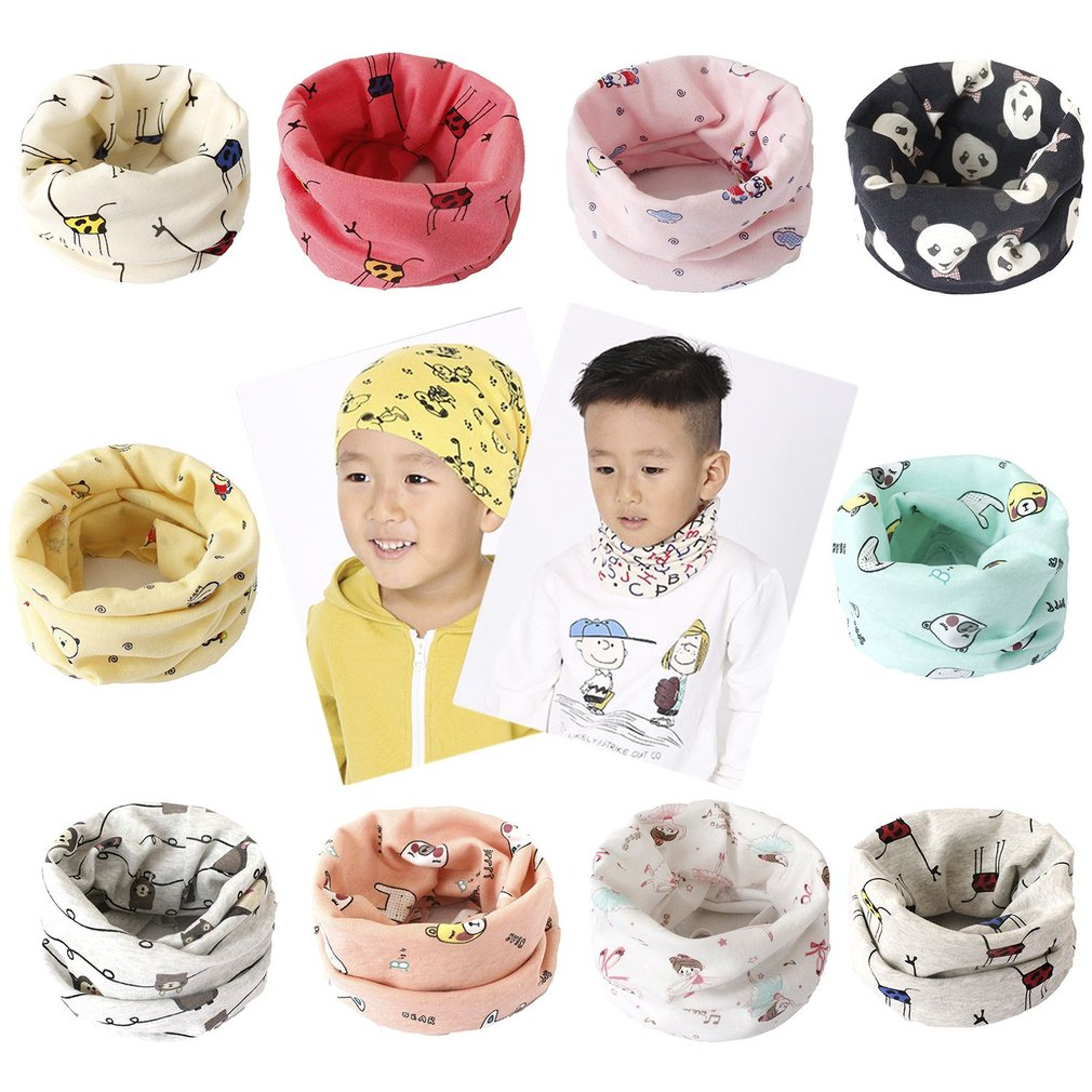 f13b558d114 Best buy New Cotton Baby Scarf Warm Children Winter Scarf For Kids O Scarf  Boy Girl Neck Warmer Cute Pattern Baby Cute Comfortable Scarf online cheap