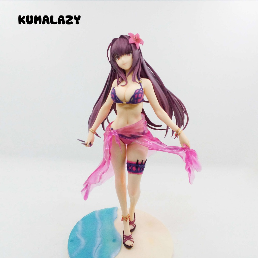 KUMALAZY Fate/Grand Order Figure Fate Grand Order Assassin Scathach Sexy Bikini 20CM PVC Action Figure Toy Collection Model цена и фото
