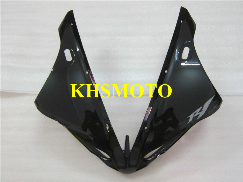 Front part Nose Motorcycle Fairing Kit for YAMAHA YZFR1 04 05 06 YZF R1 2004 2005 2006 YZFR1000 ABS black Fairings set YP28