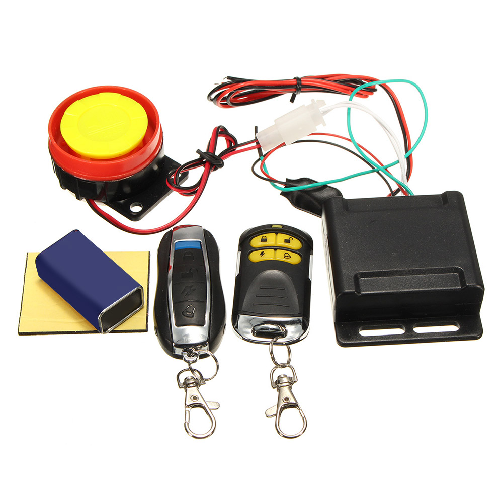 Universal Motorcycle Alarm System Scooter Anti-theft Security Alarm Motorcycle Speaker Remote Control Motor Anti-cut Line