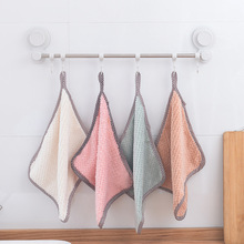 Kitchen Dish Cloth High-efficiency Microfiber Tableware Home Creative Cleaning Towel Pure Color Bathroom Supplies
