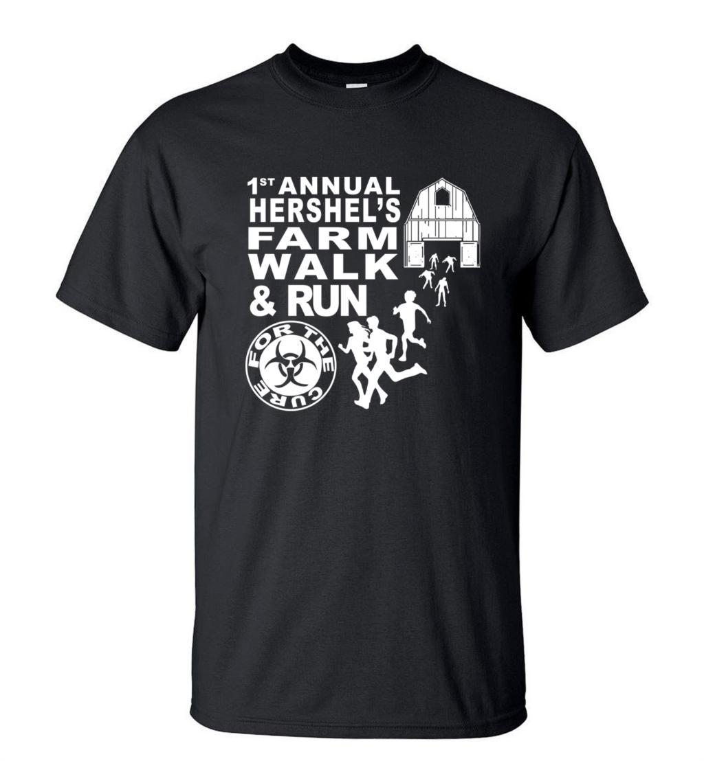 Personality T-Shirt  Zombie Apocolypse Hershel's Farm Walk T Shirt 2019 Summer 100% Cotton Casual Slim Hip Hop Style Tops Tees