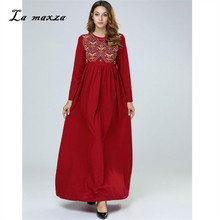 Abaya Gowns Muslim Modest Dress Embroidery Turkey Arabic Kaftan Dubai Islamic  Evening Muslim Party Dresses( dcb4a53842b0