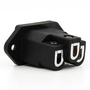 Image 2 - Viborg Black Audio Grade VI06BR Pure Copper Rhodium Plated IEC Inlet Plug AC 250V 15A Power Socket