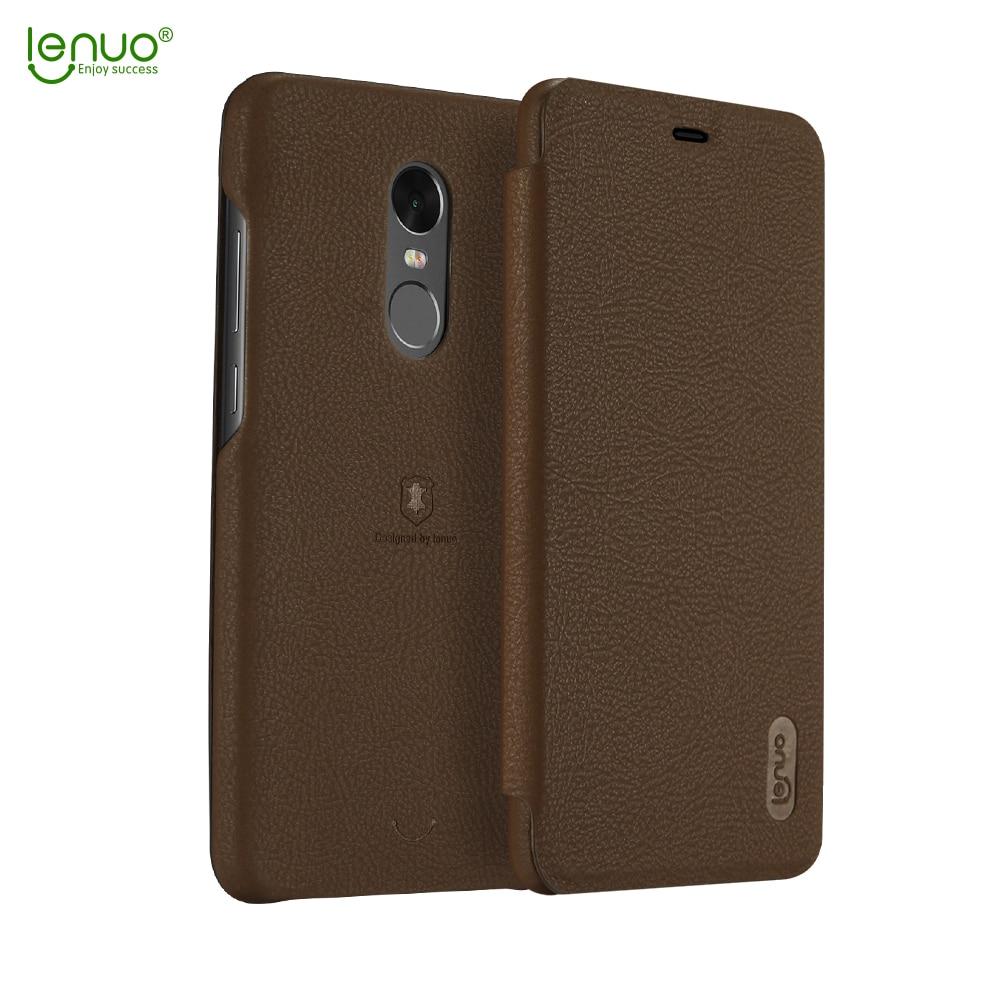 Lenuo case for Xiaomi Redmi Note 4X PU Back Cover Ultra ...