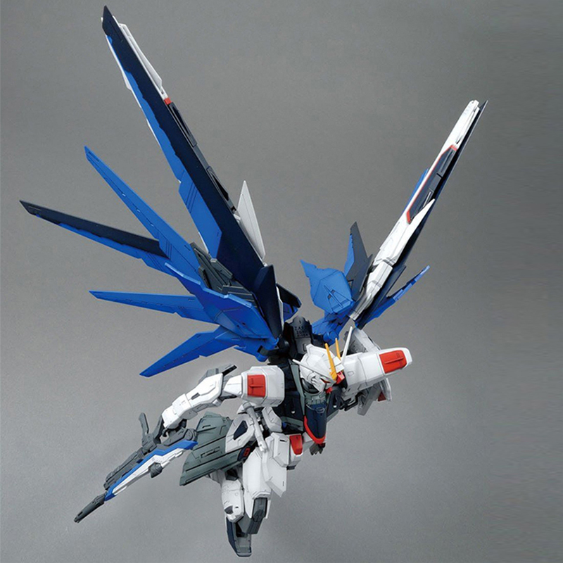 Image 4 - MG Strike Freedom Gundam 1/100 Blue Robot model hot Kids Toy Anime action figures collectibles gift Attached bracket juguetes-in Action & Toy Figures from Toys & Hobbies