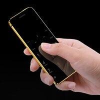 Ulcool V36 Ultra-Mince téléphone portable de carte de crédit en métal corps bluetooth 2.0 dialer anti-perdu FM mp3 double carte SIM mini mobile téléphone