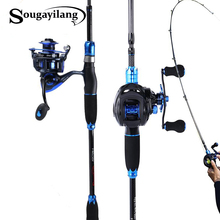 Sougayilang 1 8m2 1m Fishing Rod and Fishing Reel Combo Carbon Lure Rod Casting Spinning Baitcasting Reel With Spare Coil Sets cheap Rod+Reel Aluminium Alloy 1 8 m Ocean Boat Fishing Ocean Rock Fshing Ocean Beach Fishing LAKE River Reservoir Pond stream